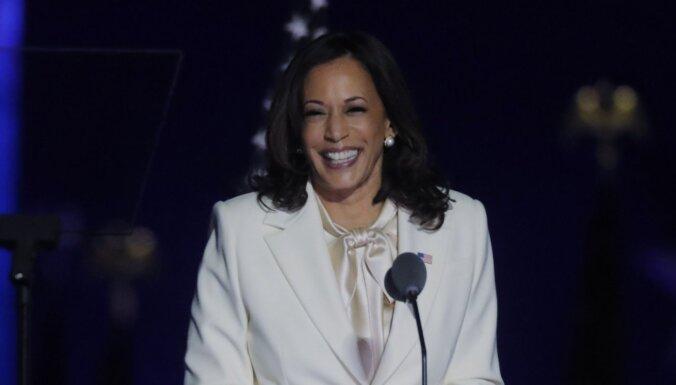 Es nebūšu pēdējā sieviete ASV viceprezidenta amatā, paziņo Harisa