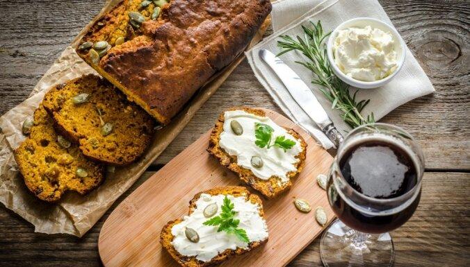 Ķirbju un alus maize