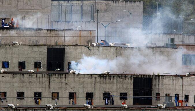 Desmitiem cilvēku gājuši bojā cietuma nemieru laikā Ekvadorā