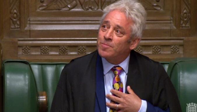 Par atkāpšanos paziņo Lielbritānijas parlamenta spīkers