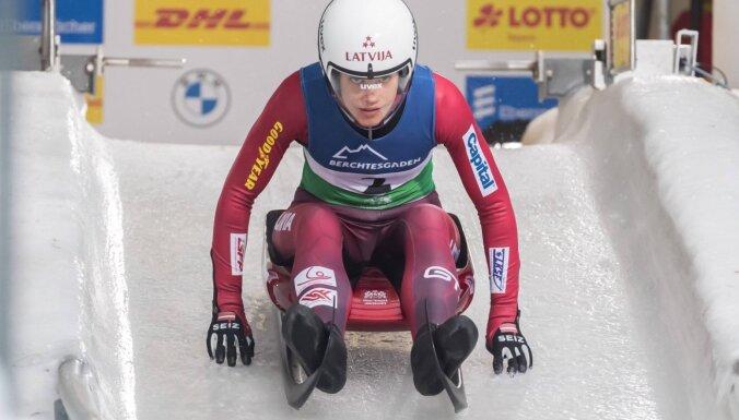 Kamaniņu braucēja Vītola Sanktmoricas trasē šokējoši izcīna pirmo uzvaru karjerā