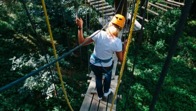 Перед началом учебного года на Синие горы: идеи для активного отдыха в парке в Огре