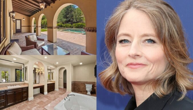 Foto: Kā izskatās namā, ko par 2,85 miljoniem tirgo aktrise Džodija Fostere