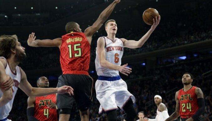 Porziņģis gūst 14 punktus 'Knicks' uzvarā pār 'Hawks'