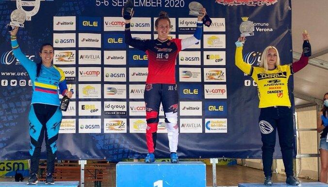 Pētersone izcīna trešo vietu Eiropas kausa BMX otrajā posmā