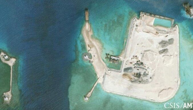 Ķīna izvietojusi raķešu sistēmu strīda salā Dienvidķīnas jūrā
