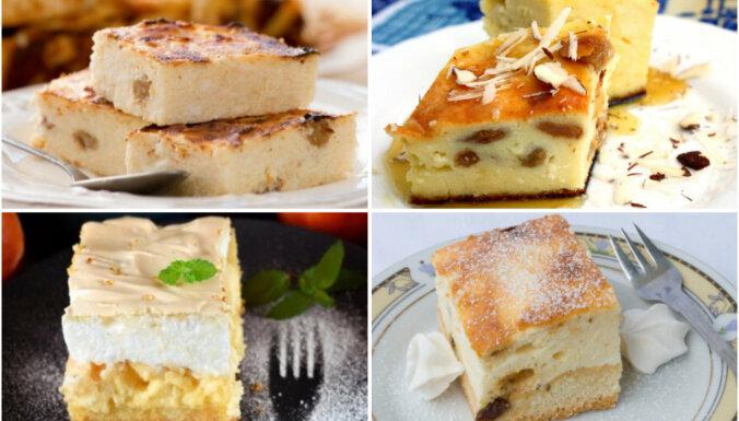 Sulīgās biezpiena plātsmaizes: 14 receptes saldām brīvdienām