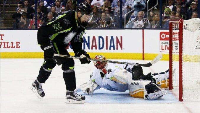 Girgensons un vēl viens uzbrucējs vienīgie paliek bez rezultativitātes punktiem NHL Zvaigžņu spēlē
