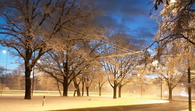 """ФОТО: """"Как в сказке!"""" Морозное утро в Пардаугаве"""