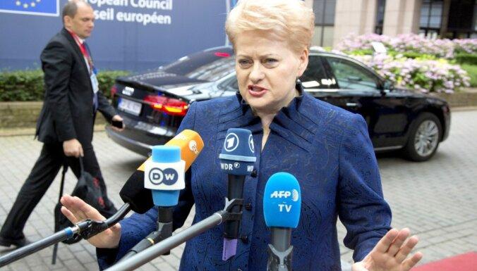 Грибаускайте назвала условие для новых санкций Литвы в отношении России