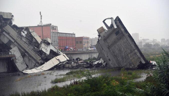 ФОТО, ВИДЕО: При обрушении моста в Генуе погибло 35 человек