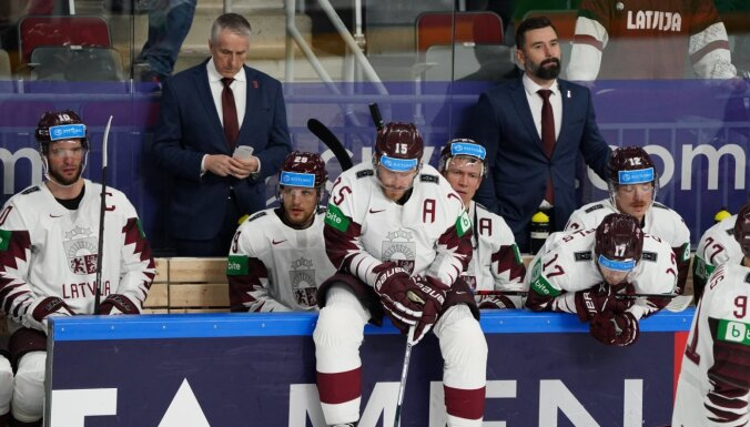 Latvijas hokejisti atkal sāpīgi paklūp pret Vāciju