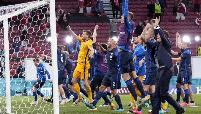 Дебютанты ЕВРО финны победили датчан в прерывавшемся матче из-за индицента с Эриксеном