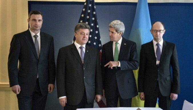 Украинские оппозиционеры и Керри договорились об урегулировании конфликта