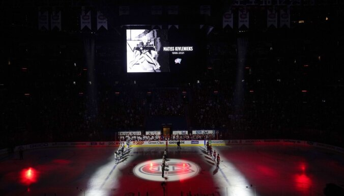 Video: Pirms NHL fināla Monreālā un visapkārt ASV godina Matīsu Kivlenieku