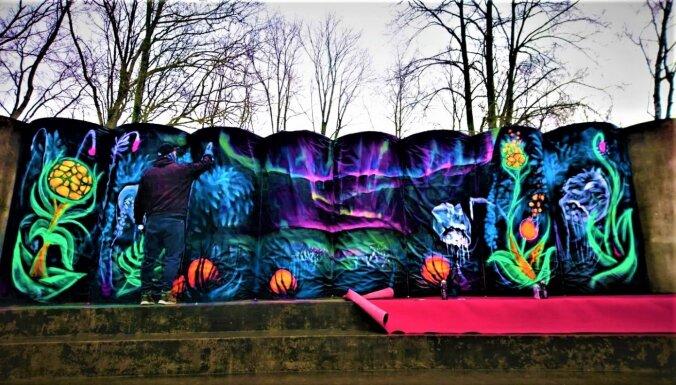 Kultūras pils 'Ziemeļblāzma' parkā uzmirdzēs īpašs 'Neona dārzs'
