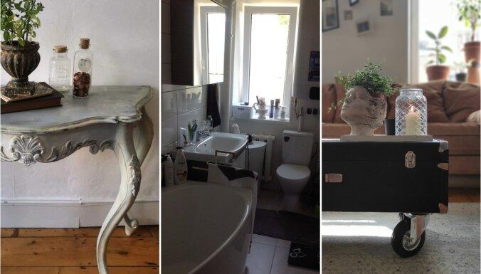 Foto: 'Māja&Dārzs' konkursa pērles – dzīvokļu pārvērtības un atjaunoto mēbeļu šedevri