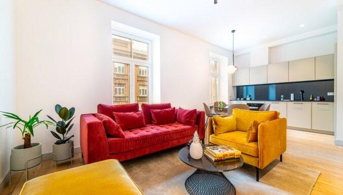 ФОТО: Уютная квартира на улице Блауманя с яркими акцентами в интерьере