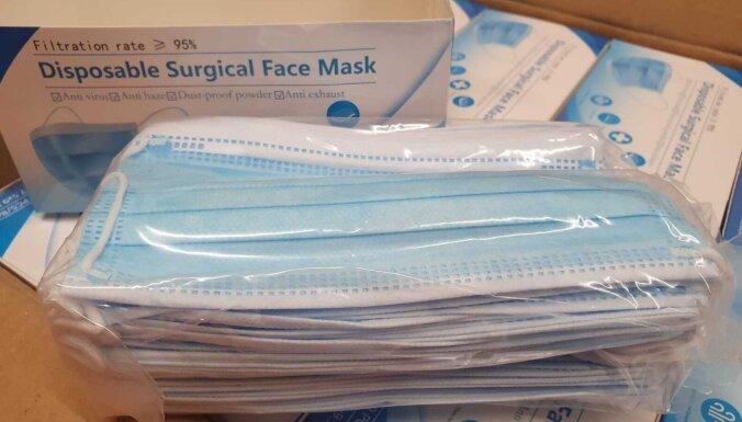 RTU testi: 'GP Nord' un 'Laumas' piegādāto masku gaisa caurlaidība rada šaubas par atbilstību Eiropas standartiem