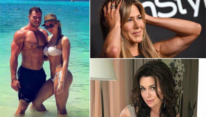Nedēļas trakumi: Anistone 'salauž' instagramu, fitnesa skaistuļu šķiršanās, Zavorotņukas veselības stāvoklis