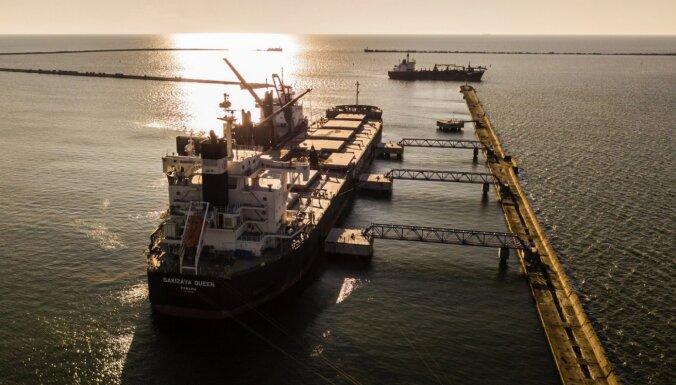 В Лиепайском порту в 2020 году перевалено на 10% меньше грузов