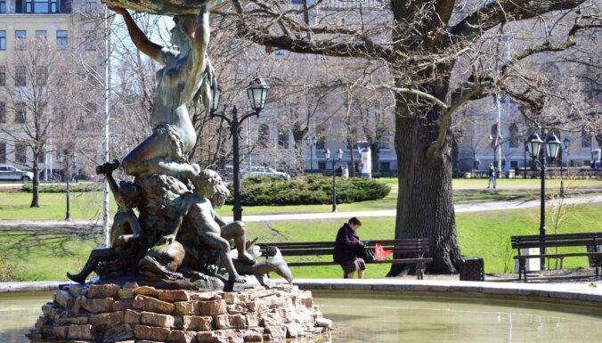 В мае постепенно заработают рижские фонтаны