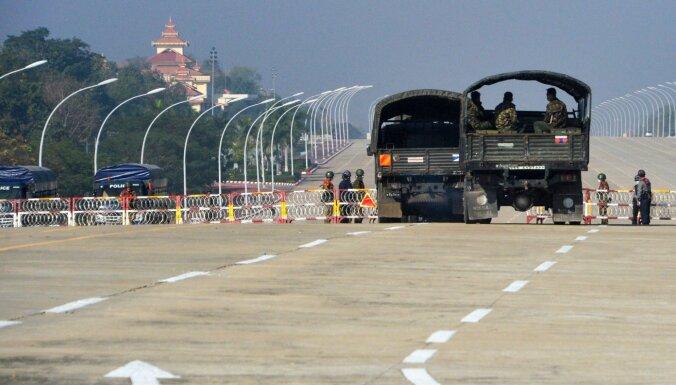 Apvērsums Mjanmā var pastiprināt Ķīnas ietekmi reģionā, brīdina Japānas aizsardzības amatpersona
