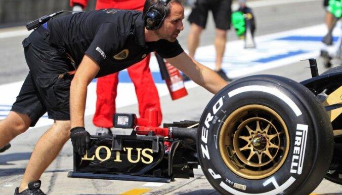 'Lotus' F-1 komandas bolīdi nav ieradušies Abu Dabi