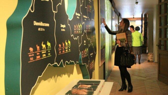 Foto: Jaunmoku pilī atklāts jauns un interaktīvs Meža muzejs
