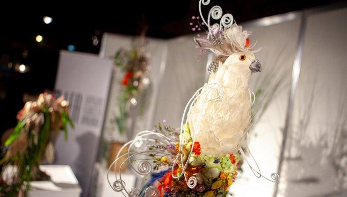 Foto: Pārsteidzošā leļļu māksla un ziedu burvība Dzelzceļa muzejā