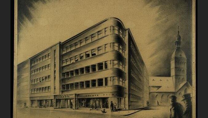 Izstādē būs aplūkojami vēsturiski Latvijas arhitektu oriģinālie zīmējumi