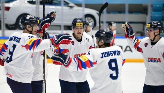 Baltkrievijas un Dienvidkorejas hokejisti ar uzvarām turpina ceļu uz PČ eliti