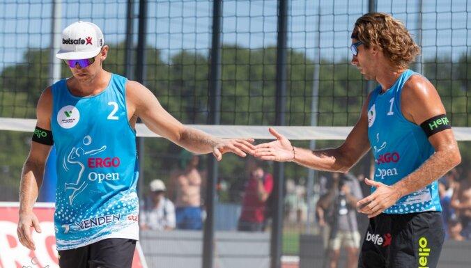 'ERGO Open' posms Jūrmalā: laukumā atgriežas Regža; pāru maiņas sieviešu sacensībās