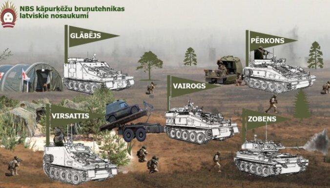 Гром, щит и меч: Латвийские бронетранспортеры получат имена