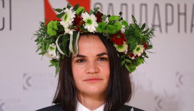 В пятницу Латвию посетит лидер белорусской оппозиции Светлана Тихановская