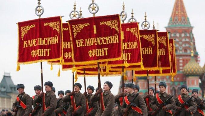 В Москве прошел марш, посвященный параду 7 ноября 1941 года