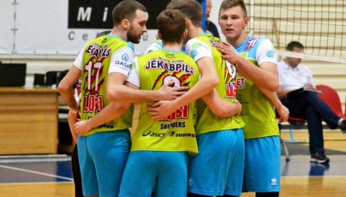 Jēkabpils 'Lūšu' volejbolisti atspēlējas un izlīdzina rezultātu finālsērijā pret RTU/'Robežsardzi'