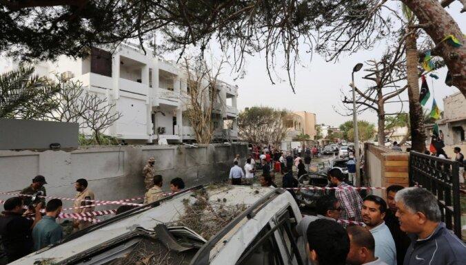 Pie Francijas vēstniecības Lībijā nograndis sprādziens