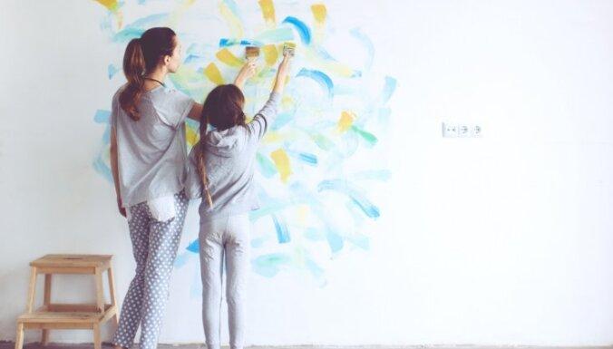 Interesantas sienas bez tapetēm - dažas krāsošanas tehnikas un viltības