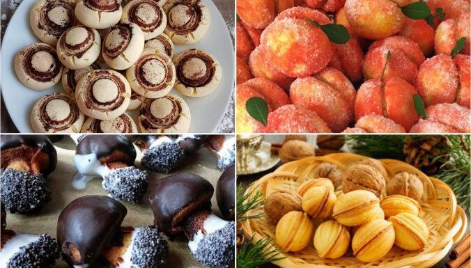 Šampinjoni, riekstiņi un persiki: 10 neparasti cepumi svētku dāvanu paciņām