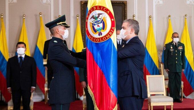 Kolumbijas prezidenta pilī apstiprināti 13 Covid-19 gadījumi
