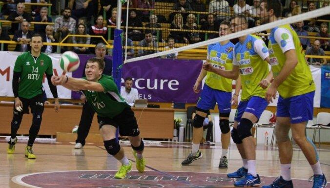 Jēkabpils 'Lūši' nonāk vienas uzvaras attālumā no Latvijas čempiontitula volejbolā
