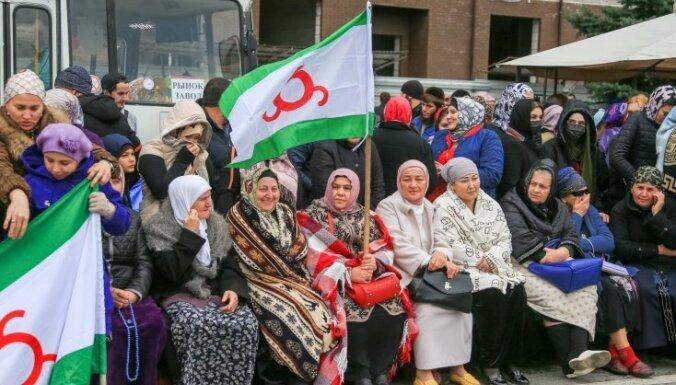 Ingušijā protestē pret zemju apmaiņu ar Čečeniju
