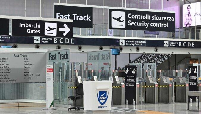 Itālijā darbu atsāks divas lidostas
