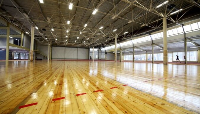 Foto: Atklāta Murjāņu Sporta ģimnāzijas jaunā sporta halle
