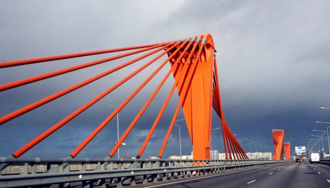 В Риге закроют движение на съезде с Южного моста на ул. Маскавас