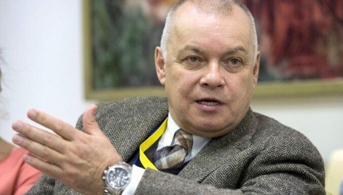 Propagandists Kiseļovs ziņu sižeta falsificēšanā vaino kļūdu