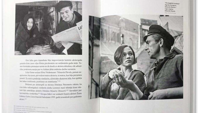 Izdota grāmata par aktiermākslu Latvijas kino