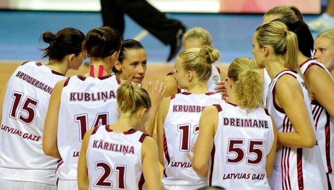 Latvijas basketbolistes zaudē arī Serbijai
