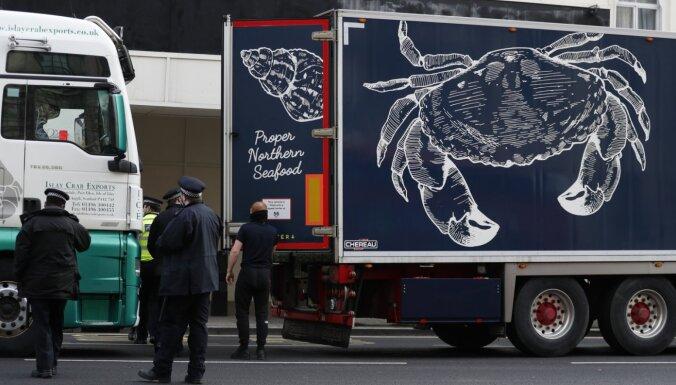 'Brexit': Jūras velšu eksportētāji Londonā protestē pret jauno birokrātiju